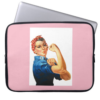 Rosie the Riveter Neoprene Laptop Case 15 inch