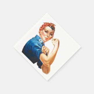 Rosie the Riveter Paper Napkins