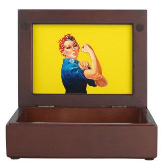 Rosie The Riveter Retro Style Memory Box
