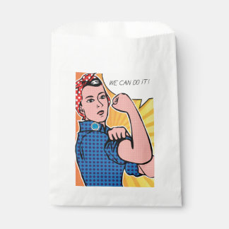 Rosie the Riveter Roy Lichtenstein Ben-Day Pop Art Favour Bag