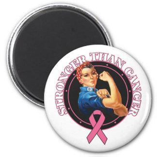 Rosie The Riveter Stronger Than Breast Cancer Fridge Magnet