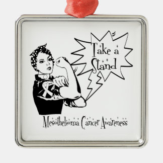 Rosie The Riveter Take a Stand Mesothelioma Ornament