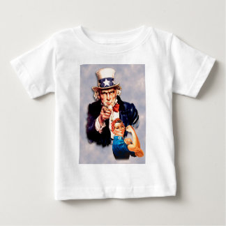 Rosie the Riveter & Uncle Sam design Baby T-Shirt