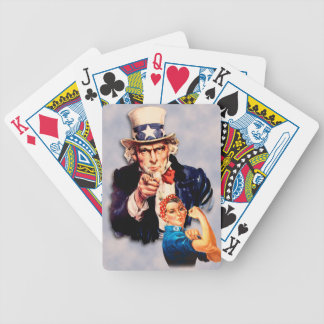 Rosie the Riveter & Uncle Sam design Bicycle Playing Cards