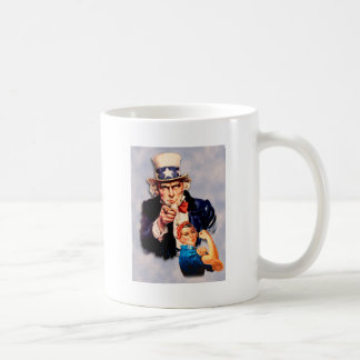 Rosie the Riveter & Uncle Sam design Coffee Mug