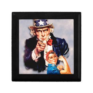 Rosie the Riveter & Uncle Sam design Gift Box