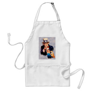 Rosie the Riveter & Uncle Sam design Standard Apron