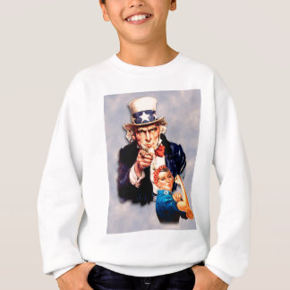 Rosie the Riveter & Uncle Sam design Sweatshirt