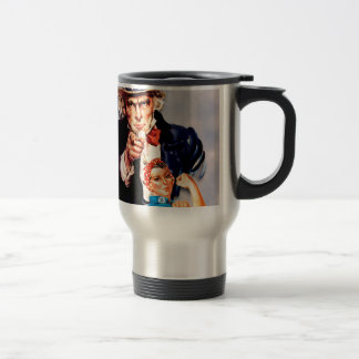 Rosie the Riveter & Uncle Sam design Travel Mug