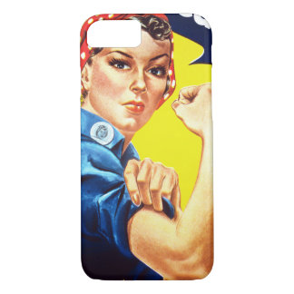 Rosie The Riveter, Vintage, Apple iPhone Case