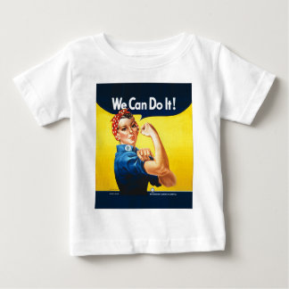 """Rosie the Riveter """"We Can Do It!"""" Baby T-Shirt"""