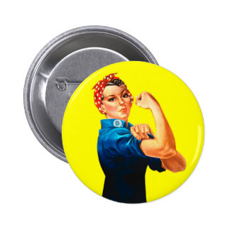 Rosie the Riveter - We can do it, Cultural Icon 6 Cm Round Badge