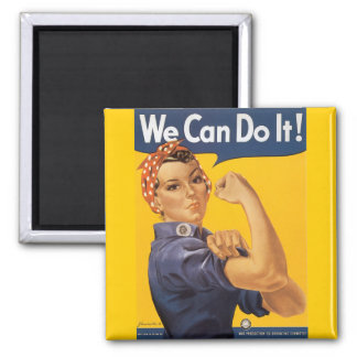 """Rosie the Riveter """"We Can Do IT """" Magnet"""