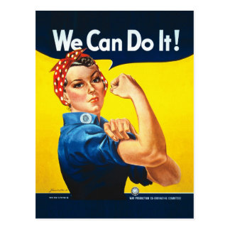 """Rosie the Riveter – """"We Can Do It!"""" Postcard"""