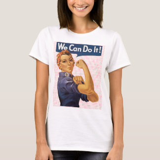 Rosie the Riveter We Can Do It Red Polka Dots T-Shirt