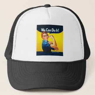 """Rosie the Riveter """"We Can Do It!"""" Trucker Hat"""