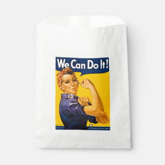 Rosie the Riveter We Can Do It Vintage Retro WW II Favour Bags