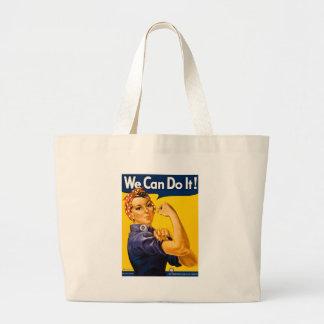 Rosie the Riveter We Can Do It Vintage Jumbo Tote Bag