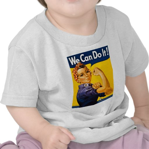 Rosie the Riveter We Can Do It Vintage Tees