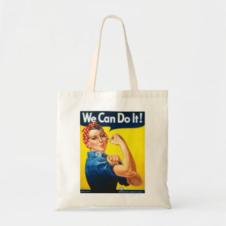 Rosie the Riveter We Can Do It World War Two Budget Tote Bag