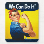 Rosie the Riveter We Can Do It World War Two Mouse Pad