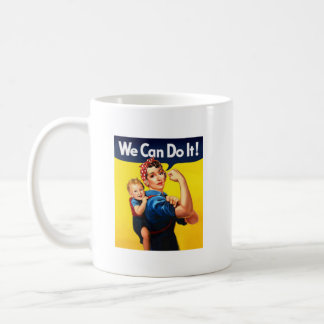 Rosie the Riveter with kid small mug