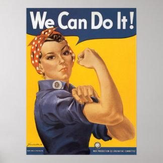 Rosie The Riveter World War 2 Poster
