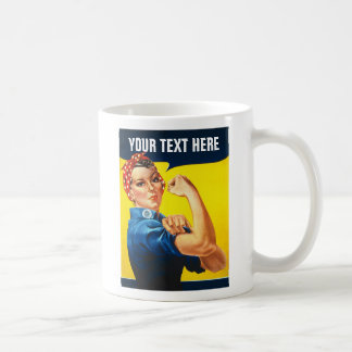 Rosie The Riveter WW2 War Effort Working Woman Basic White Mug