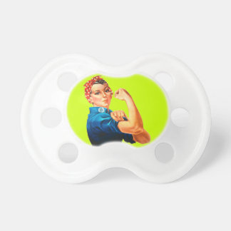 Rosie The Riveter WWII Poster Baby Pacifier