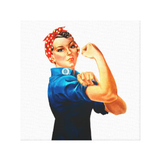 Rosie The Riveter WWII Poster Canvas Prints