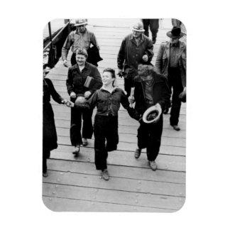 Rosie the Riveters on the Boardwalk Vinyl Magnets