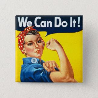 Rosie the Rivetter 15 Cm Square Badge