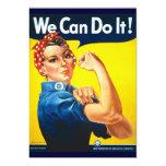 Rosie Vintage we can do it! 13 Cm X 18 Cm Invitation Card