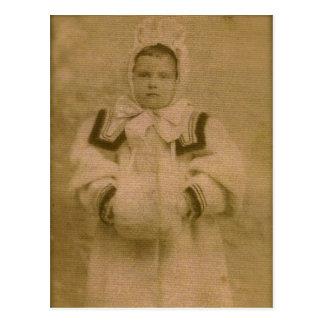 Rosie ZARFOS, ready for snow, circa 1895 Postcard