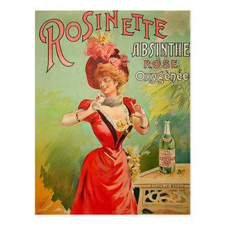 Rosinette Absinthe 1823 Postcard