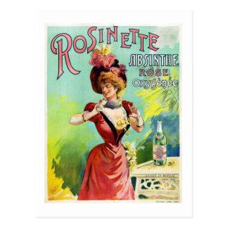 Rosinette Absinthe Postcard