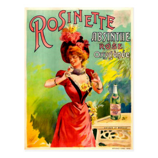 Rosinette Absinthe Rose Oxygénée Vintage Fine Art Postcard