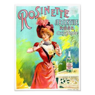 Rosinette Absinthe Vintage Advertisement Poster Photographic Print