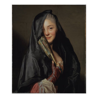 Roslin Lady with Veil CC0013 Poster