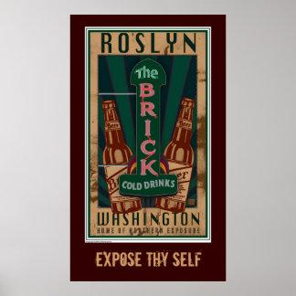 Roslyn WA-Print Poster