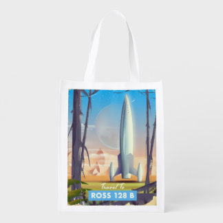 Ross 128 B Science fiction poster Reusable Grocery Bag