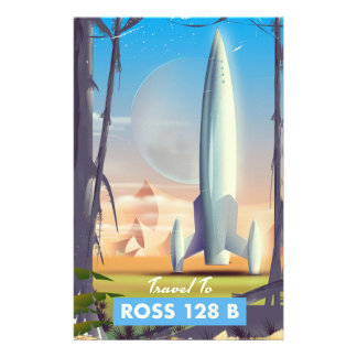 Ross 128 B Science fiction poster Stationery