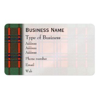 Ross clan Plaid Scottish tartan Pack Of Standard Business Cards