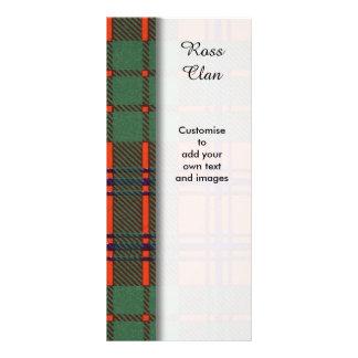 Ross clan Plaid Scottish tartan Personalized Rack Card