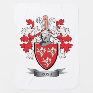 Ross Family Crest Coat of Arms Baby Blanket