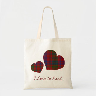 Ross Plaid Hearts Canvas Tote Tote Bag