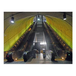 Rosslyn Metro Station Escalators 001 Postcard