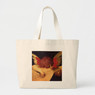 Rosso Fiorentino Musician Angel Jumbo Tote Bag