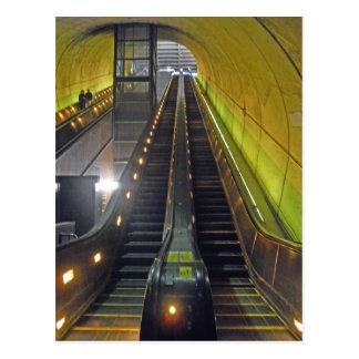 Rossyln Metro Station Escalators Arlington VA Postcard