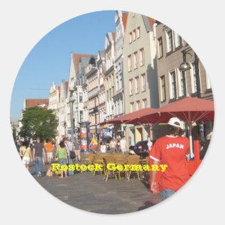 Rostock Germany Classic Round Sticker